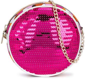 Emilio Pucci Junior sequin embellished circular mini bag