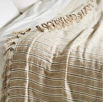 Pom Pom at Home Newport Linen Blanket - Natural/Midnight