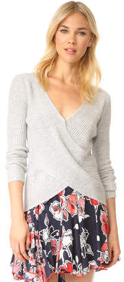 cupcakes and cashmere Nikolai Cross Front Sweater $120 thestylecure.com