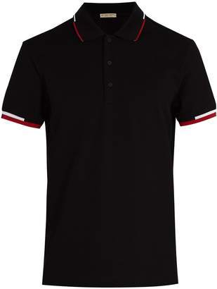 Bottega Veneta Logo-embroidered cotton piqué polo shirt