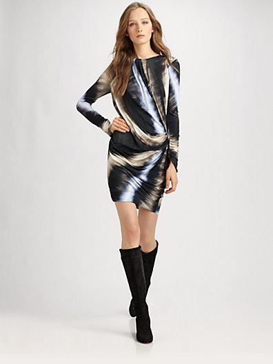 Peter Pilotto Long-Sleeved Silk Dress