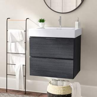 "Wade Logan Tenafly 24"" Single Wall Mount Bathroom Vanity Set Base"
