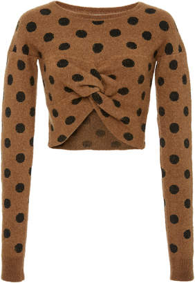 Polka Dot Embrace Deconstructed Sweater