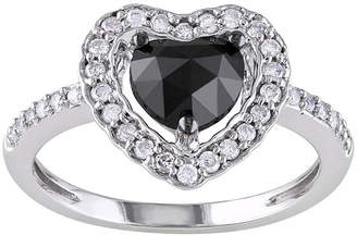 Black Diamond MODERN BRIDE 1 CT. T.W. White & Color-Treated Heart Engagement Ring