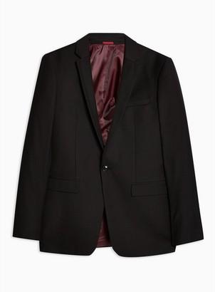 Topman Mens Black Ultra Skinny Fit Suit Jacket