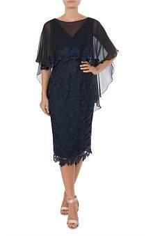 Anthea Crawford Navy Lace Dress
