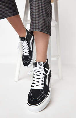 Vans Women's Black & White Sk8-Hi Platform Sneakers