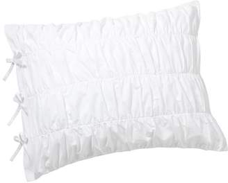 Pottery Barn Teen Ruched Standard Sham, White