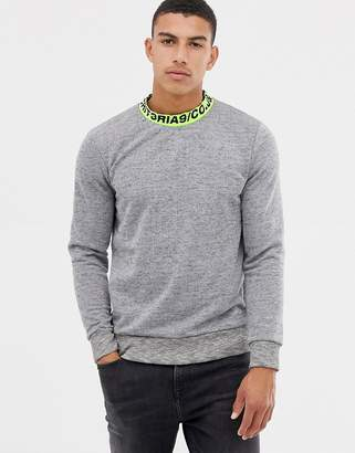 Jack and Jones Core Sweater With Neckline Logo