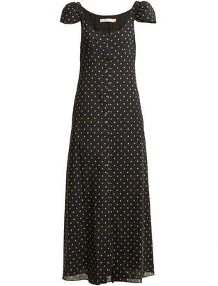 Brock Collection Polka dot-print button-down silk dress