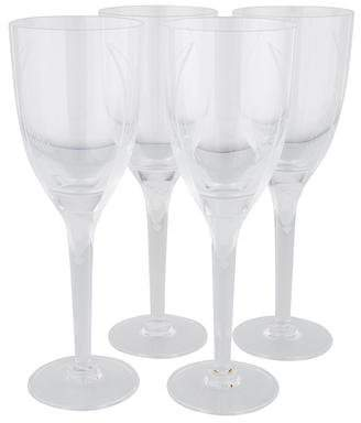 Lalique Set of 4 Ange Champagne Flutes