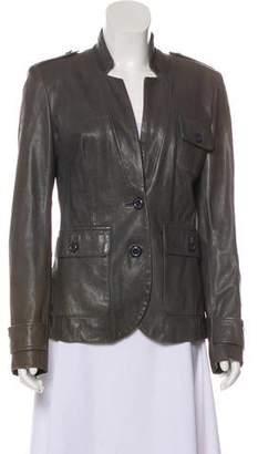 Rachel Zoe Leather Distressed Jacket