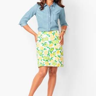 b8435ed8e Talbots Classic Cotton A-Line Skirt - Lemon & Lime