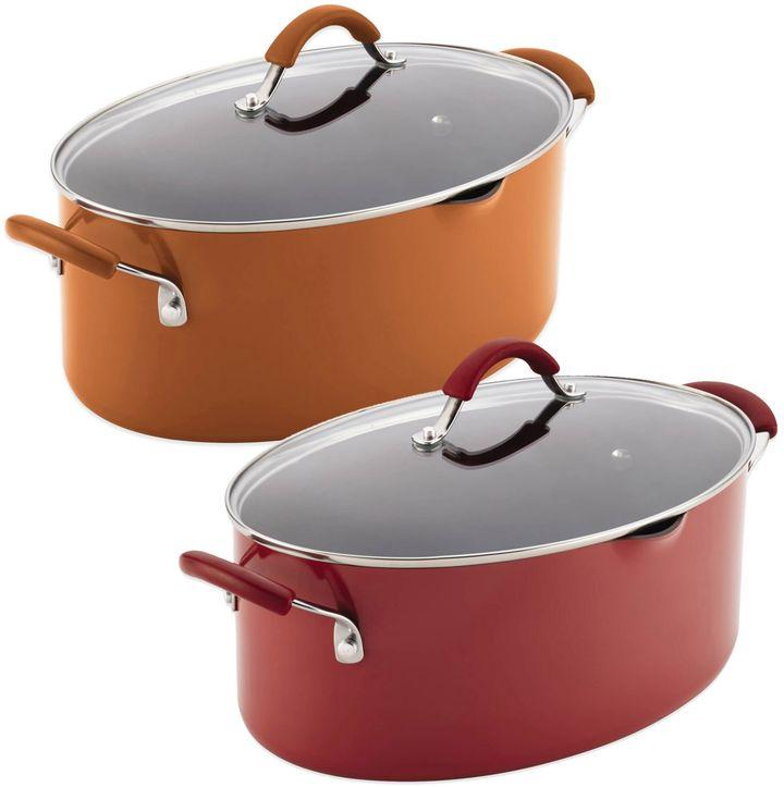 Rachael RayTM Cucina 8 qt. Hard Enamel Covered Oval Pasta Pot