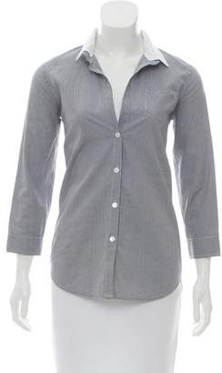 Elizabeth and James Gingham Print Button-Up Top