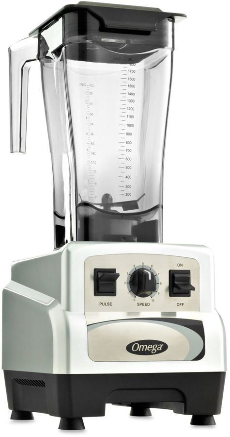 Omega BL460S 64 oz. 3-HP Variable Speed Commercial Blender with Pulse Control in Silver