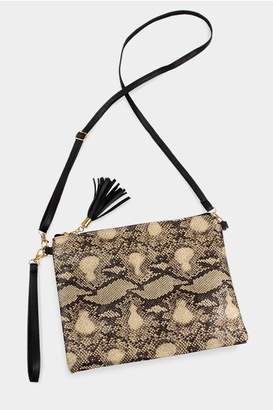 Embellish Snake Skin Bag