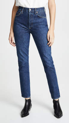 A Gold E AGOLDE Remy High Rise Straight Jeans