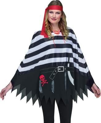 Fun World Costumes Fun World Women's Pirate Poncho Adlt