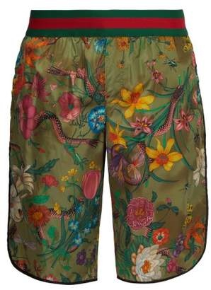 Gucci Flora Print Swim Shorts - Mens - Multi