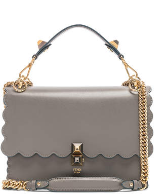 26fca770e4 Fendi Scallop Chain Crossbody Bag in Grey