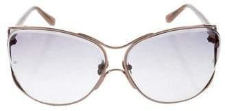 Linda Farrow Oversize Tinted Sunglasses