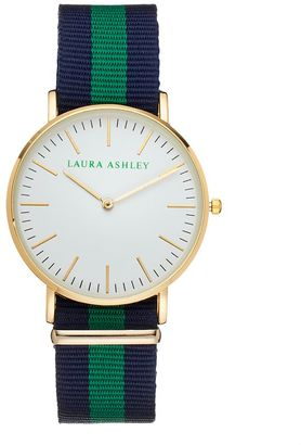 Laura Ashley Women's Striped Watch $295 thestylecure.com