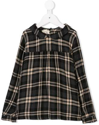 Caffe Caffe' D'orzo flared checked shirt