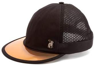 Gucci Mesh And Cotton Visor Cap - Mens - Black