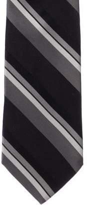 Valentino Striped Print Silk Tie