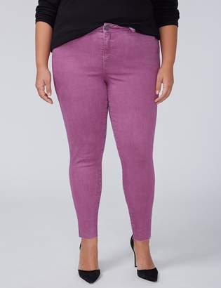 Power Pockets Super Stretch Skinny Ankle Jean - Grape