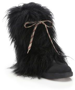 See by Chloe Katy Faux Fur & Leather Boots $380 thestylecure.com