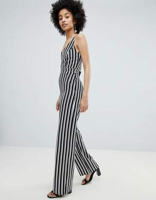 Miss Selfridge Stripe Wide Leg Cami Jumpsuit