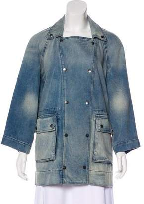Current/Elliott Denim Double-Breasted Jacket