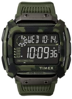 Timex R Command(TM) Shock Digital Silicone Strap Watch, 54mm