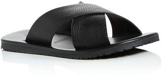 Bloomingdale's The Men's Store at Men's Leather Crisscross Slide Sandals - 100% Exclusive
