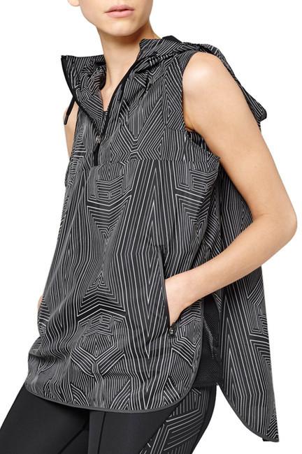 Ivy Park Reflective Linear Print Sleeveless Jacket