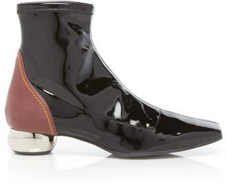 Patent Metallic Heel Chelsea Boot