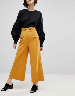 Asos Clean Utility Pocket Culotte with Button Detail