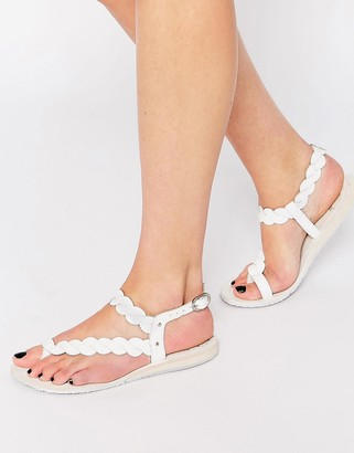 Bronx Weave Leather Flat Sandals $33 thestylecure.com