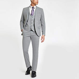 River Island Light grey stretch skinny fit suit pants