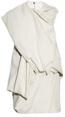Rick Owens Wrap-Effect Gathered Cotton And Silk-Blend Felt Top