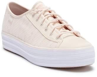 Keds Triple Kick Striped Mesh Platform Sneaker