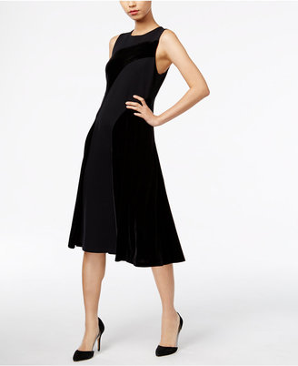Alfani Velvet Fit & Flare Dress, Only at Macy's $129.50 thestylecure.com