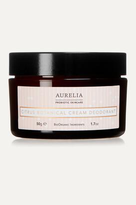 Aurelia Probiotic Skincare Citrus Botanical Cream Deodorant, 50g - Colorless