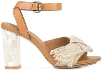 See by Chloe jute ribbon sandals