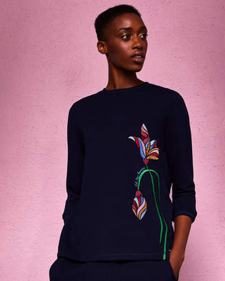 Ted Baker ARLINDA Floral embroidered sweater