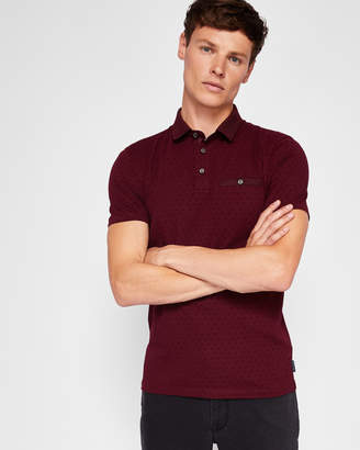 Ted Baker PLATTS Spot print cotton polo shirt
