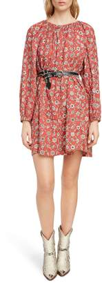 Etoile Isabel Marant Tockya Print Linen Swing Dress
