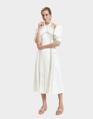 Self-Portrait Self Portrait Ottoman Paneled Dress